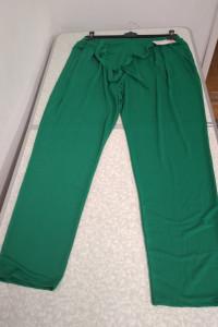 Spodnie w kolorze zielonym z wiązaniem z przodu 2XL...