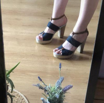 Czółenka buty na obcasie