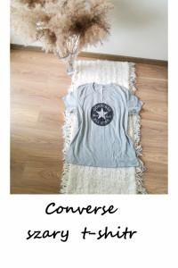 Bawełniany t shirt converse L XL bawełna szara koszulka...