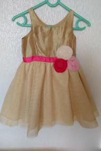 Złota sukienka wizytowa balowa dla małej księżniczki...