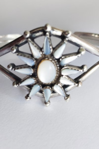 Bransoleta bangla Navajo Zuni srebro...