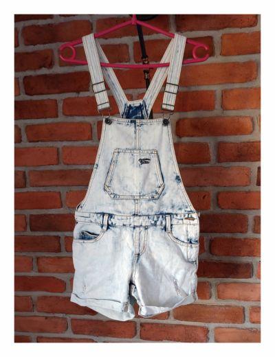 Kombinezony Jeansowe ogrodniczki Outfitters