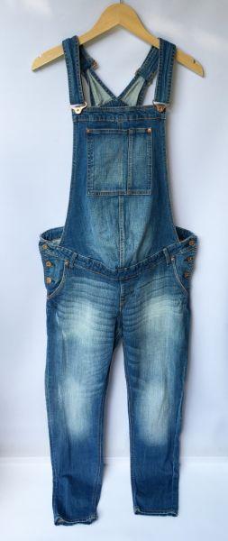 Kombinezony Ogrodniczki Dzinsowe H&M Mama Ciążowe XL 42 Jeansowe Ciąża