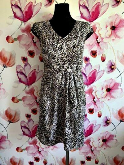 Suknie i sukienki dunnes sukienka modny wzór panterka zip nowa hit 38