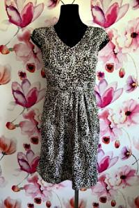 dunnes sukienka modny wzór panterka zip nowa hit 38