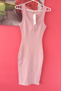 Sukienka ołówkowa z bawełny prążkowanej...