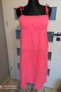 Sukienka różowa na ramiączkach Cubus rozm L...