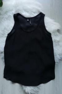 Elegancki top czarna bluzka bez rękawów Mango Suit MNG XS