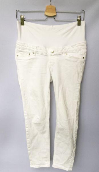 Spodnie Spodnie Białe H&M Mama Rurki S 36 Biel Dzinsowe Jeans