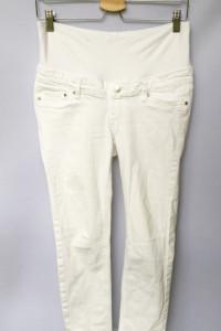 Spodnie Białe H&M Mama Rurki S 36 Biel Dzinsowe Jeans...