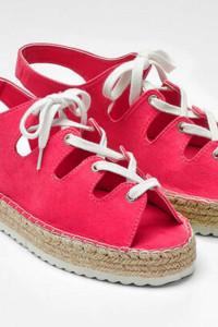 Sandały czerwone espadryle 40 i 26cm...