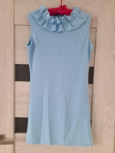 Suknie i sukienki Pudrowa sukienka na lato