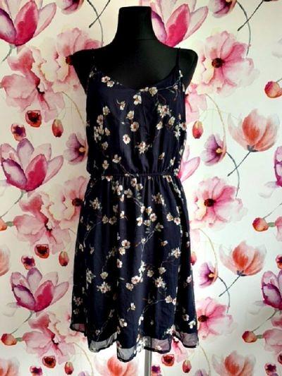 Suknie i sukienki vero moda sukienka zwiewna modny wzór kwiaty floral hit 40