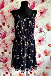 vero moda sukienka zwiewna modny wzór kwiaty floral hit 40...