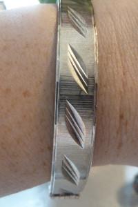 bransoletka srebrna frezy
