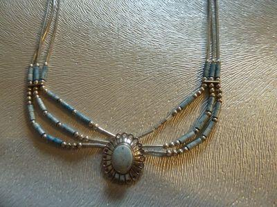 Naszyjniki naszyjnik srebrny Navajo
