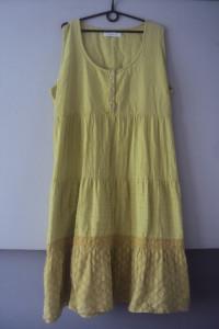 limonkowa bawełnian sukienka