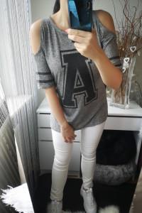 New Look Bluzka damska z wycięciami na ramionach L