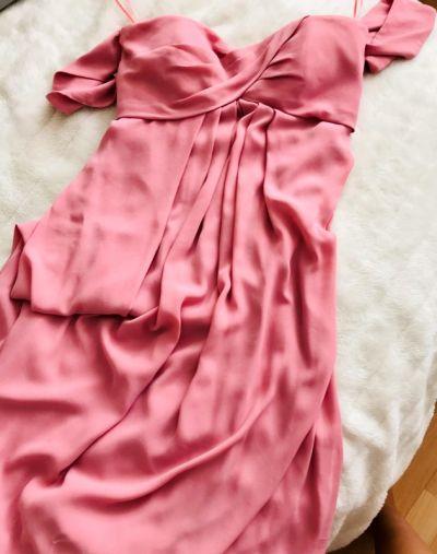 Suknie i sukienki ASOS suknia maxi pudrowy róż