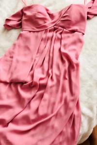 ASOS suknia maxi pudrowy róż...
