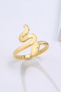 Nowy pierścionek złoty kolor żmija żmijka wąż stal szlachetna obrączka celebrytka
