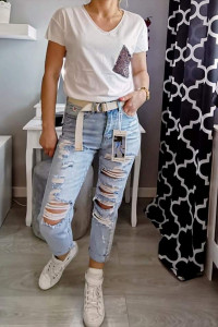 Spodnie Boyfriendy Msara...