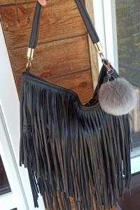 Piękna torebka z fredzlami H&m