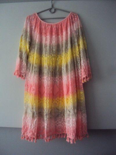 Suknie i sukienki nowa cieniowana sukienka boho
