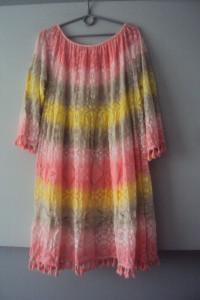 nowa cieniowana sukienka boho...