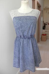 Sukienka Dżinsowa Jeansowa Rozkloszowana Bawełniana Denim Co M