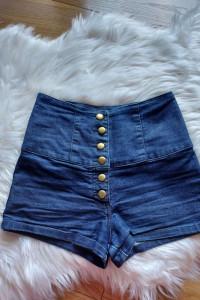 Jeansowe spodenki szorty wysoki stan XS New Look