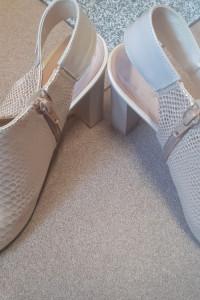 Złote letnie buty na obcasie rozm 41