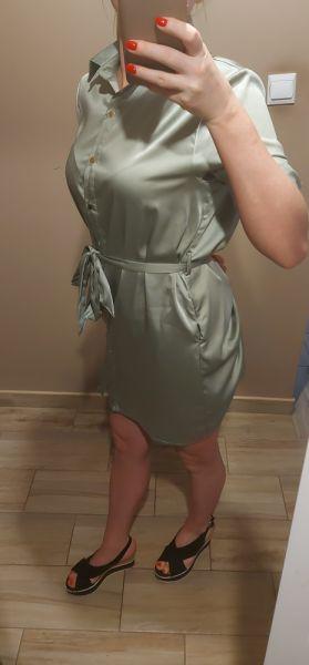 Suknie i sukienki Przecudowna sukienka satynowa sm