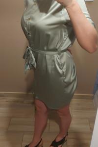 Przecudowna sukienka satynowa sm