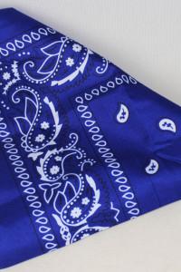 Granatowa bandana kolor indygo lata 90...
