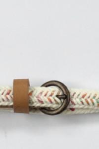 Pasek Paseczek Cienki Biały Kolorowy 105 cm Pleciony Warkocz