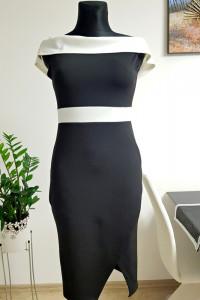 czarno biała sukienka...