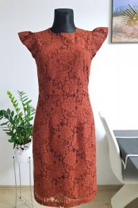 koronkowa brązowa sukienka...