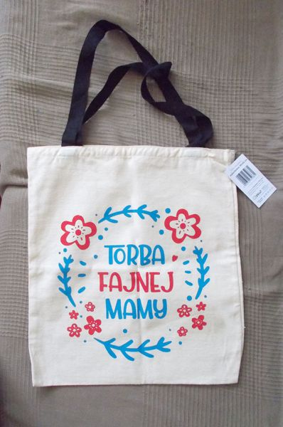 Torebki na co dzień eko torba dla mamy shoperka z napisem mama