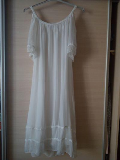 Suknie i sukienki Letnia damska biała sukienka