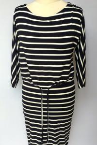 Sukienka H&M Mama XS 34 Paski Marrynarska Ciążowa Pasy...