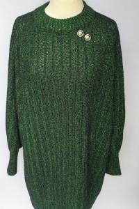 Sweter Zielony Sukienka M 38 H&M Błyszczący Long