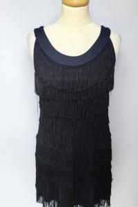 Sukienka Granatowa Frędzle H&M Frędzelki S 36 Kokatajlowa