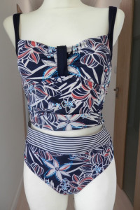 Strój Kąpielowy Bikini Tankini Modne Abstrakcyjne Kwiaty XL...