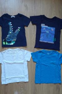 Tshirty 4szt 1gratis bluzki koszulki kr rękaw 104 hm reserved cool club ca