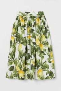 Bawełniana spódnica H&M w cytryny...