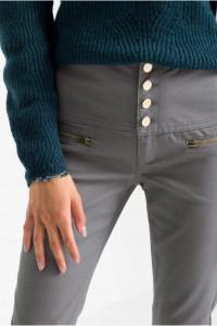 Szare spodnie z wysokim stanem bawełna 44 lub 46...