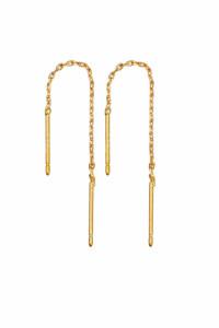 Nowe długie kolczyki wiszące złoty kolor złote łańcuszek celebrytka