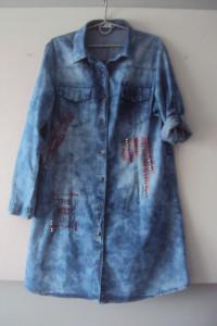 nowa jeansowa sukienka...