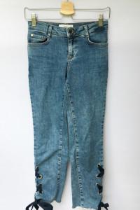 Spodnie Długość 7 8 Dzinsowe Wiązane Mango XS 34 Jeansowe...